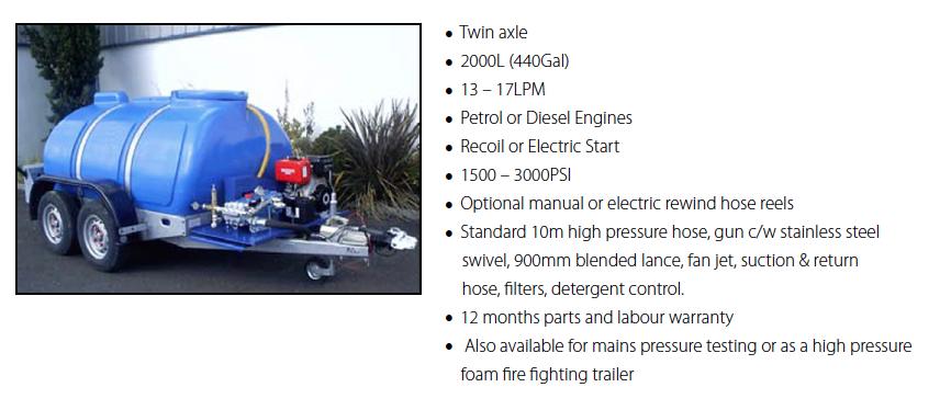 Twin Axle 2000L