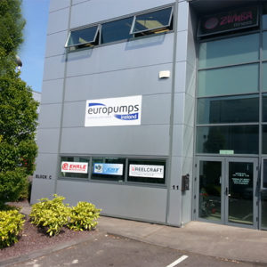 EuroPumps Ireland Unit 11,Westpoint Trade Centre,Link Road,Ballincollig,Cork