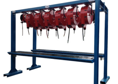 Hosereel stand for mining industry